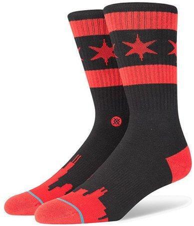 Pánské ponožky Stance Chicago Skyline Dw Black/Red