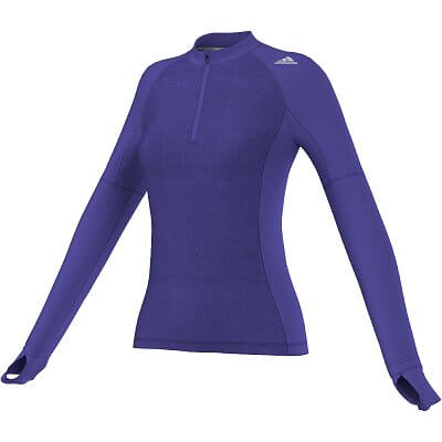 Dámské běžecké tričko adidas sn stm 1-2zip w