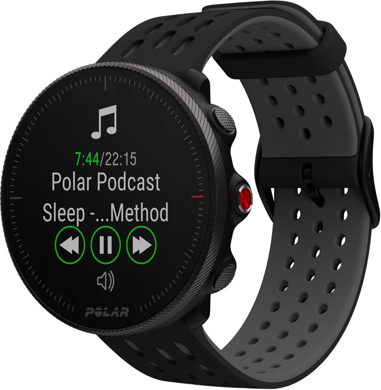 Běžecké a sportovní hodinky s GPS Polar Vantage M2 černý/šedý, vel. S-L