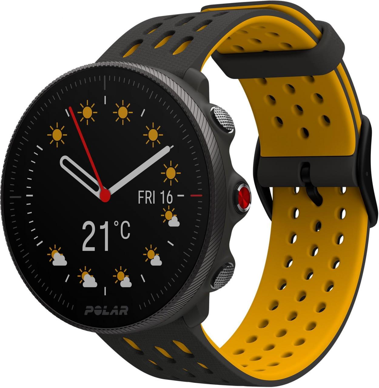 Běžecké a sportovní hodinky s GPS Polar Vantage M2 šedý/žlutý, vel. S-L