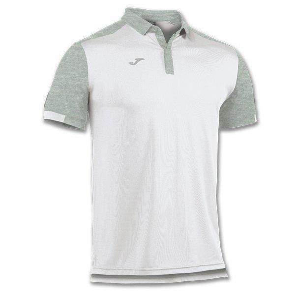 Trička Joma Polo Shirt Confort White-Light Melange S/S Cotton