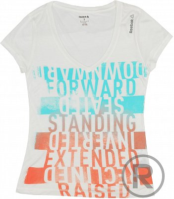 Dámské sportovní tričko Reebok YOG GRAPH TEE