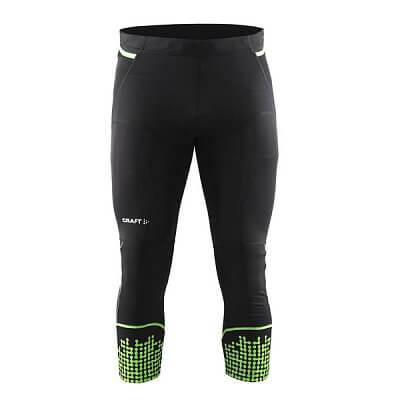 Kalhoty Craft Kalhoty Trail Knickers černá se zelenou