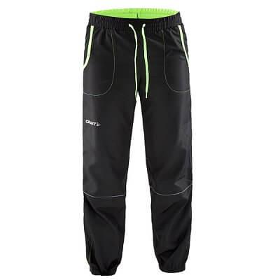 Kalhoty Craft Kalhoty Run Junior černá se zelenou