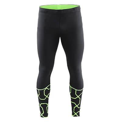 Kalhoty Craft Kalhoty Devotion Tights černá se zelenou