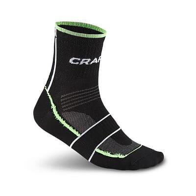 Craft Ponožky Grand Tour Bike černá se zelenou