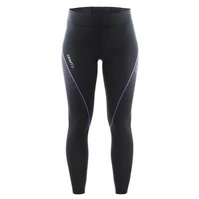Kalhoty Craft W Kalhoty Delta Compression Tights černá s fialovou