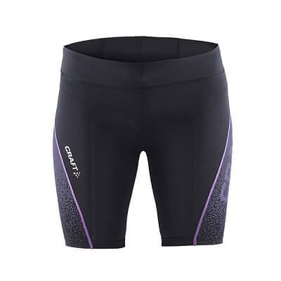 Kraťasy Craft W Kalhoty Delta Compression Fitness černá s fialovu