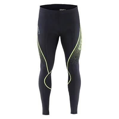 Kalhoty Craft Kalhoty Delta Compression Tights černá se žlutou