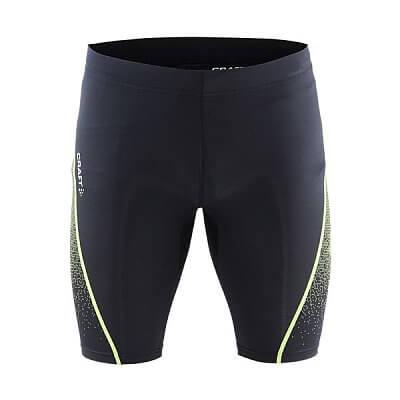 Kraťasy Craft Kalhoty Delta Compression Fitness černá se žlutou