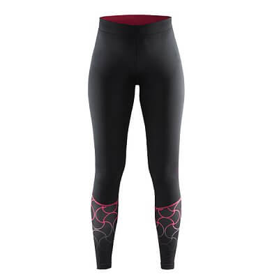 Kalhoty Craft W Kalhoty Devotion Tights černá s růžovou