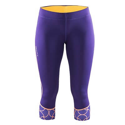 Kalhoty Craft W Kalhoty Devotion Capri fialová