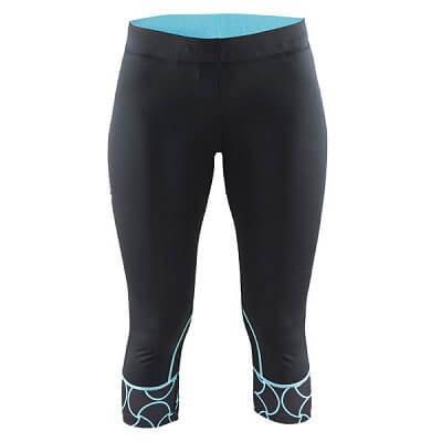 Craft W Kalhoty Devotion Capri černá s modrou