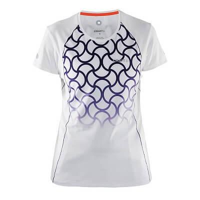 Trička Craft W Triko Focus Sublimated krátký rukáv bílá