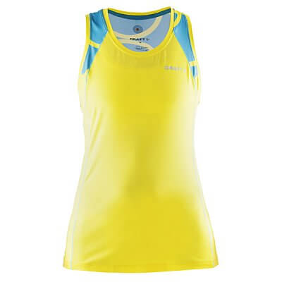 Trička Craft W Nátělník Focus Sublimated žlutá