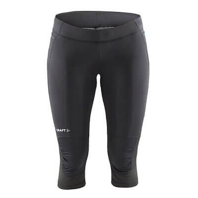 Kalhoty Craft W Kalhoty Trail Capri černá