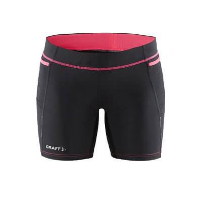 Kraťasy Craft W Kalhoty Trail Fitness černá s růžovou