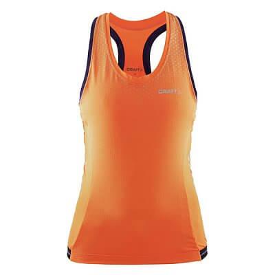 Trička Craft W Cyklonátělník Glow oranžová