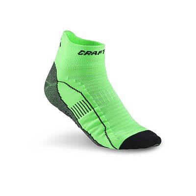 Ponožky Craft Ponožky Cool Run Ancle zelená