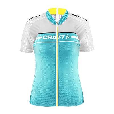 Trička Craft W Cyklodres Grand Tour světle zelená