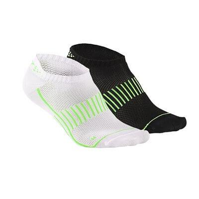 Ponožky Craft Ponožky ShaftlessTraining 2-pack černá+bílá