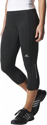 Dámské běžecké kalhoty adidas run 3/4 tight w black