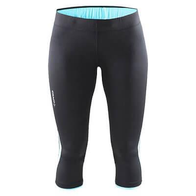 Kalhoty Craft W Kalhoty Prime Capri černá s modrou