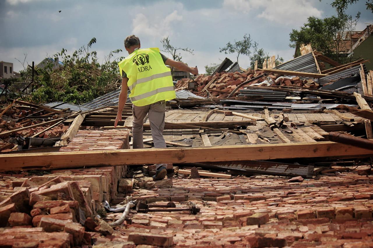 Dobrolístek pomůže na Moravě zasažené tornádem Lístek do světa pomoci lidem po tornádu