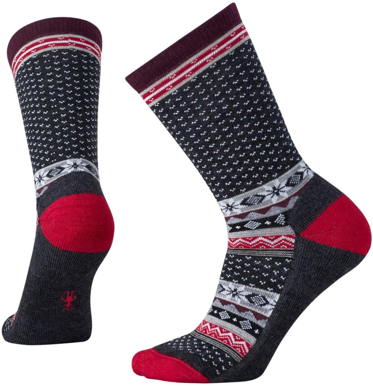 Dámské ponožky Smartwool W Cozy Cabin Crew Heather