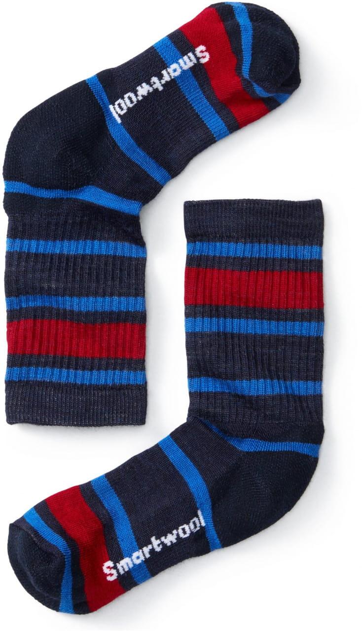 Dětské ponožky Smartwool K Hike Light Striped Crew