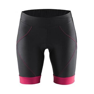 Kraťasy Craft W Cyklokalhoty Move Shorts černá s růžovou
