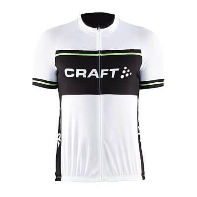 Trička Craft Cyklodres Classic Logo bílá