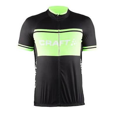 Trička Craft Cyklodres Classic Logo černá se zelenou