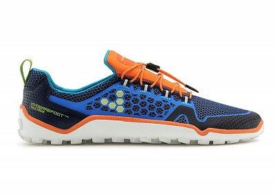 Pánské běžecké boty VIVOBAREFOOT Trail Freak 3M Mesh Navy/Orange