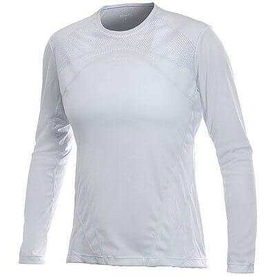 Trička Craft W Triko PR dl. rukáv dámské bílo-šedá