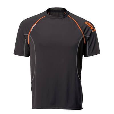 Trička Inov-8 Triko BASE ELITE 140 black/orange černá