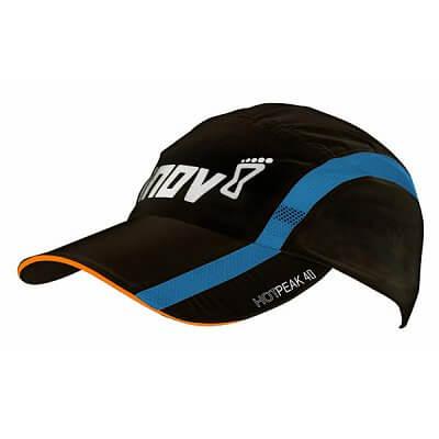 Čepice Inov-8 Kšiltovka HOTPEAK 40 black/orange/blue černá