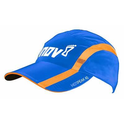 Čepice Inov-8 Kšiltovka HOTPEAK 40 blue/orange modrá