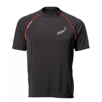 Trička Inov-8 Triko BASE ELITE 140 black/red černá