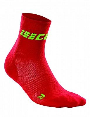 CEP Krátké ponožky ultralight dámské II červená / zelená