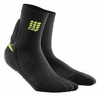 CEP Ponožky s podporou achilovky pánské černá / zelená