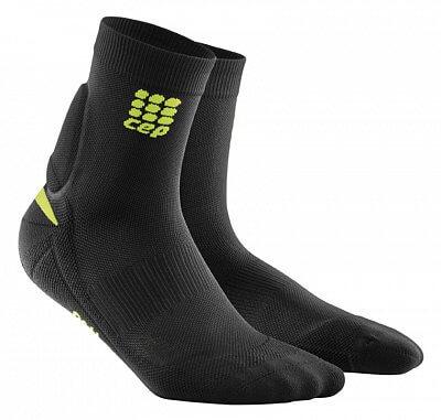 Ponožky CEP Ponožky s podporou achilovky pánské černá / zelená