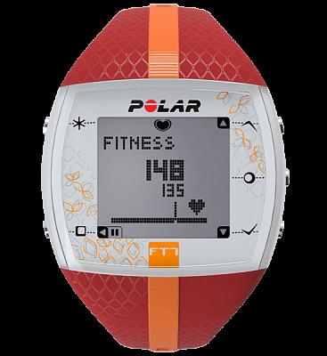 Sporttester Polar FT7 červeno-oranžový dámský