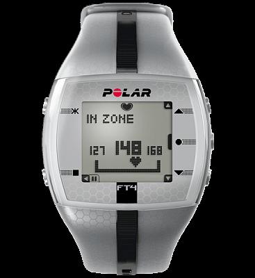 Sporttester Polar FT4 stříbrno-černý pánský