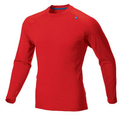 Trička Inov-8 BASE ELITE Merino LS red/blue červená
