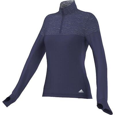 Dámské běžecké tričko adidas SN STM 1-2 Zip W