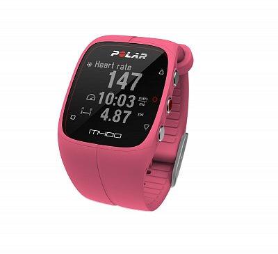 Sporttester Polar M400 HR růžový