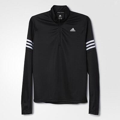 Dámske bežecké tričko adidas Response 1 2 Zip S S Tee W 20cb222df2f