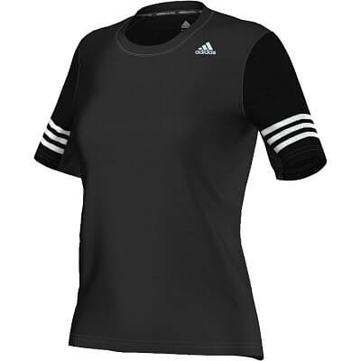 Dámské běžecké tričko adidas Response Varsity Short Sleeve Tee W