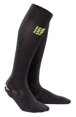 Ponožky CEP Podkolenky s podporou kotníku dámské černá / zelená